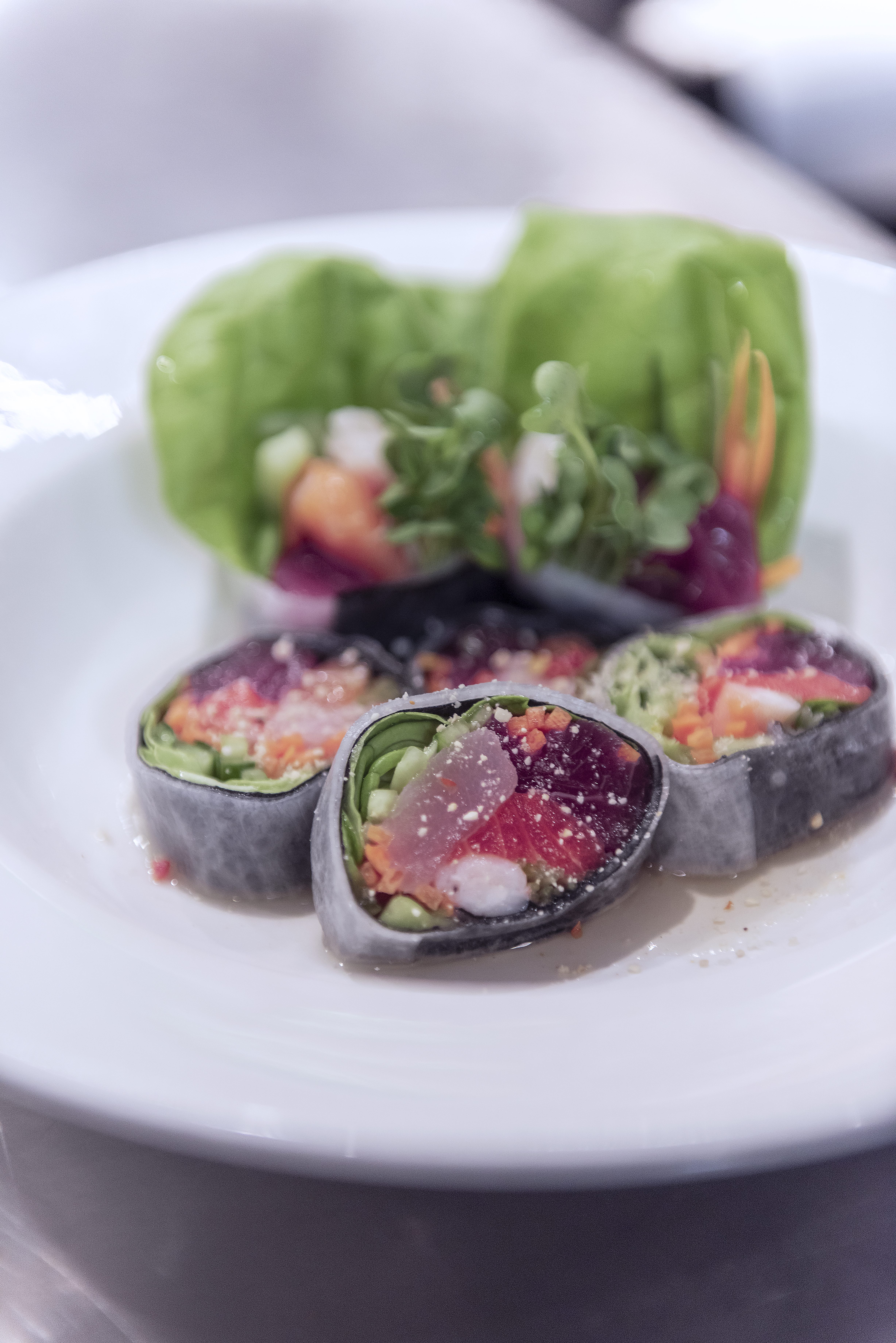 sushi roll displayed on a plate