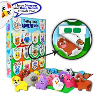 Potty Time ADVENTures (3 Themes Total: Farm Animals, Dinosaurs, Busy Vehicles)