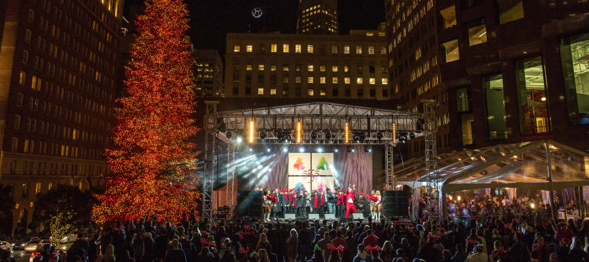 lead image for best tree lighting ceremonies in the bay area - Bay Area Christmas Lights