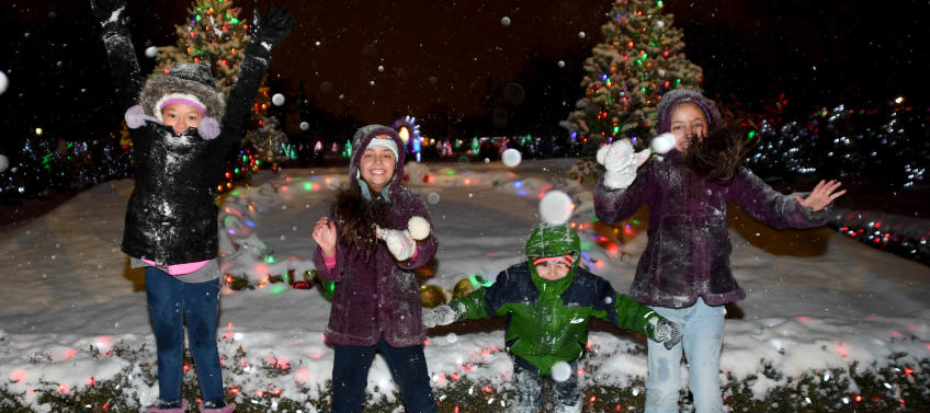 lead image for best places to see holiday lights in chicago