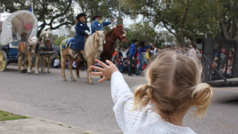 Houston Livestock Show & Rodeo with kids