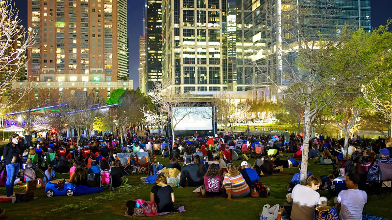 Discovery Green movie night Houston