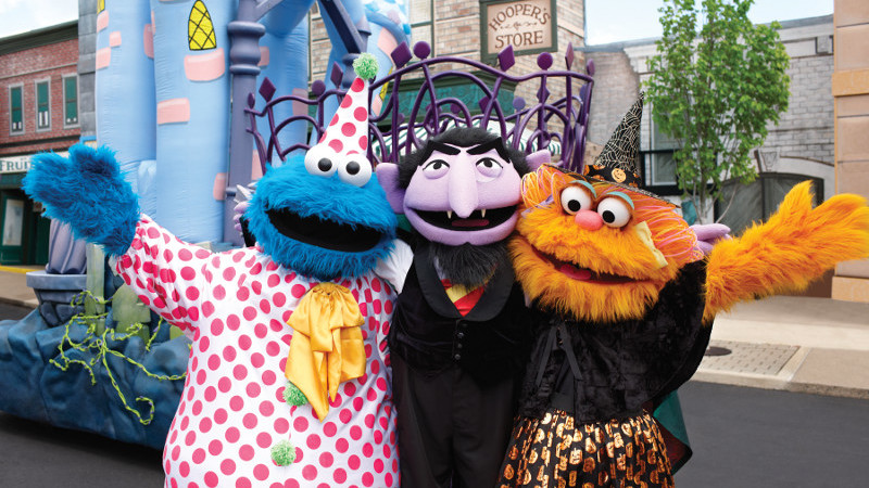 image for must do sesame place halloween spooktacular article - Sesame Place Halloween