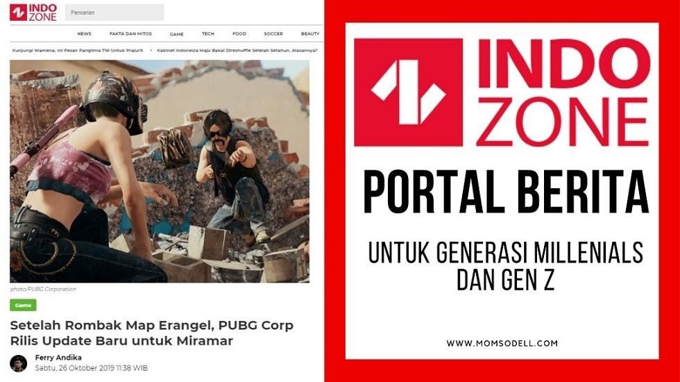 INDOZONE : Portal Berita Untuk Generasi Millenials dan Gen Z