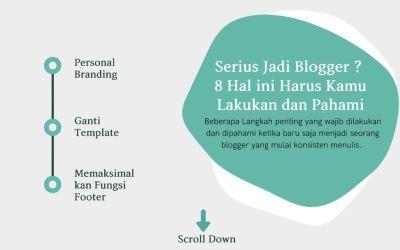 Serius Jadi Blogger ? 8 Hal ini Harus Kamu Lakukan dan Pahami
