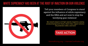 "<a href=""https://action.momsrising.org/cms/view_by_page_id/11461/?source=action"">Tell Congress to stand against the influence of white supremacy and the NRA</a>"