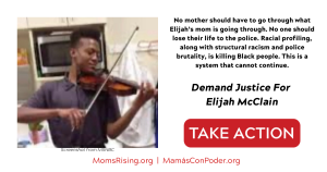"""<a href=""""https://action.momsrising.org/cms/view_by_page_id/13742/?source=action"""">Justice for Elijah McClain</a>"""
