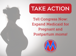 """<a href=""""https://action.momsrising.org/cms/view_by_page_id/12512/?source=action"""">We need to expand Medicaid to save pregnant and postpartum people!</a>"""