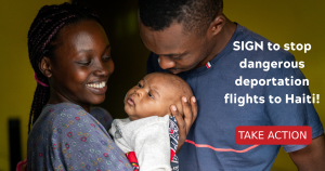 """<a href=""""https://action.momsrising.org/cms/view_by_page_id/19993/?source=action"""">QUICK SIGN: Tell Secretary Mayorkas to stop cruelty toward Haitians & end deportation flights!</a>"""