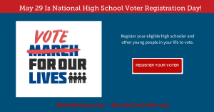 """<a href=""""https://action.momsrising.org/cms/view_by_page_id/7600/"""">Register your eligible high schooler or other people in your life to vote!</a>"""