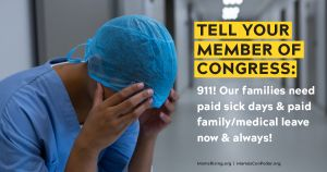"""<a href=""""https://action.momsrising.org/cms/view_by_page_id/13060/?source=action"""">BOOST and MAKE PERMANENT paid sick days and paid family and medical leave in response to the Coronavirus pandemic.</a>"""