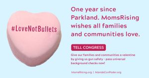 "<a href=""https://action.momsrising.org/cms/view_by_page_id/9728/"">Call Congress &amp; Tell Them #LoveNotBullets - Pass Universal Background Checks now!</a>"
