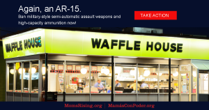 """<a href=""""https://action.momsrising.org/cms/view_by_page_id/7244/"""">Again, an AR-15: No more military-style assault weapons and high-cap magazines!</a>"""