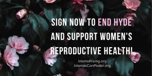 "<a href=""https://action.momsrising.org/cms/view_by_page_id/14818/?source=action"">End HYDE, Support Reproductive Justice for All!</a>"