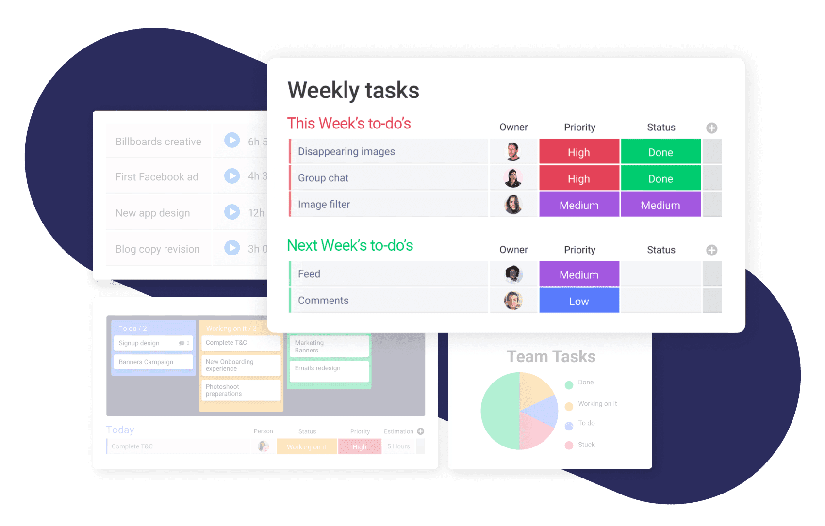 Task management in monday.com.