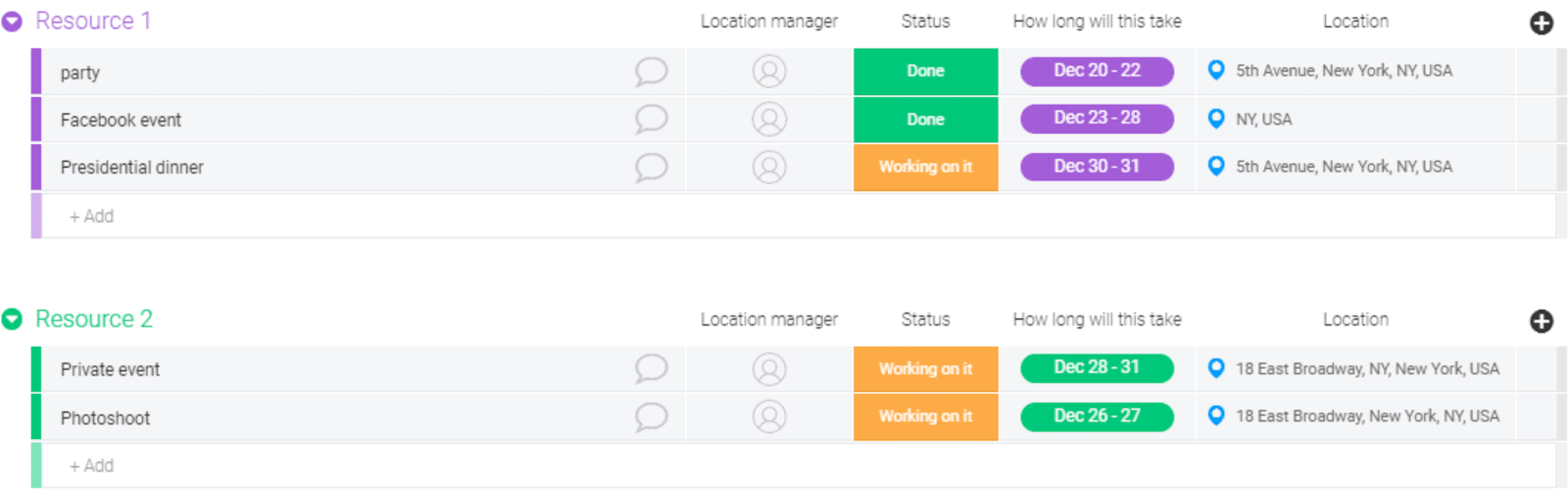 monday.com resource management