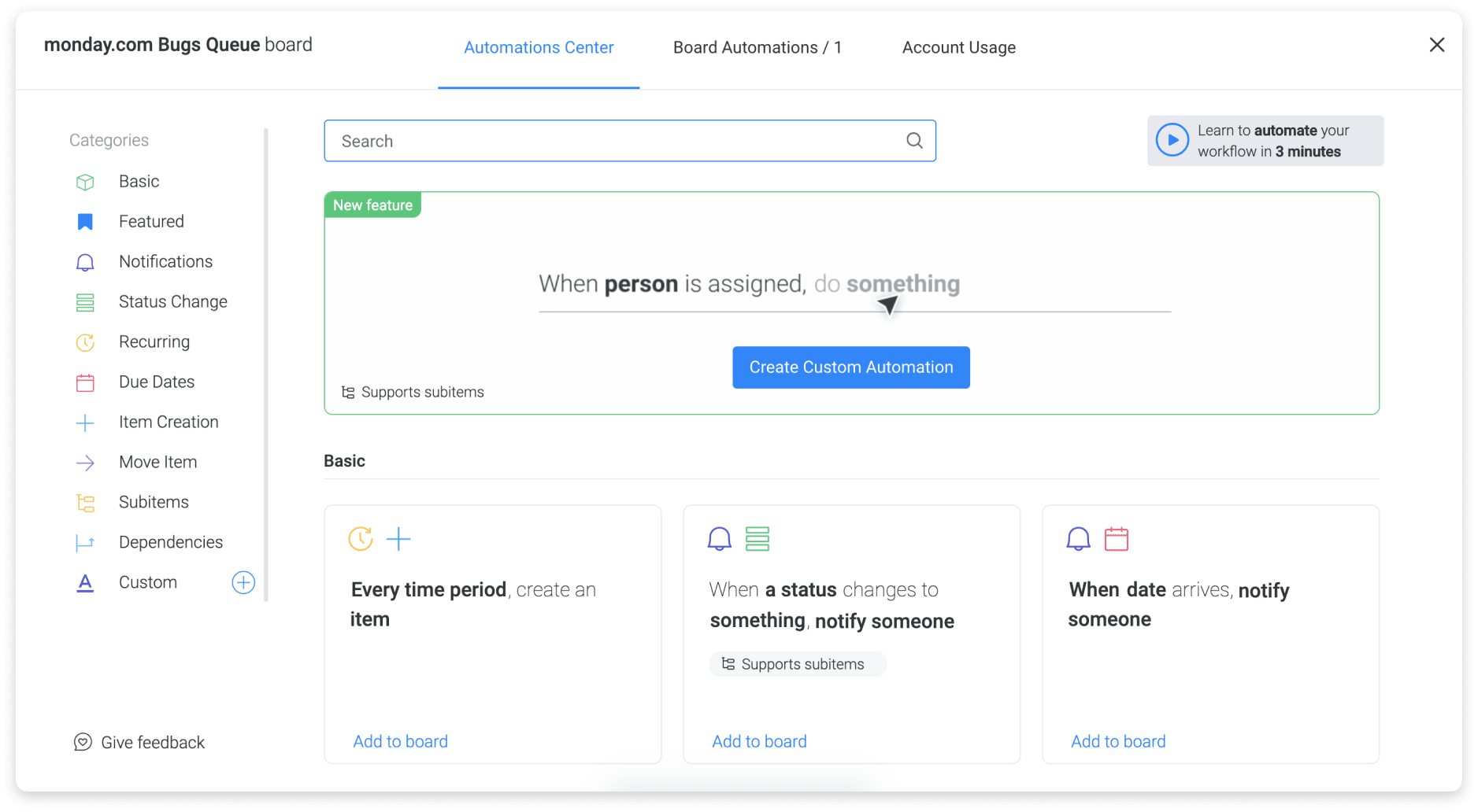 monday.com takes the cumbersome admin tasks off your plate with automations.