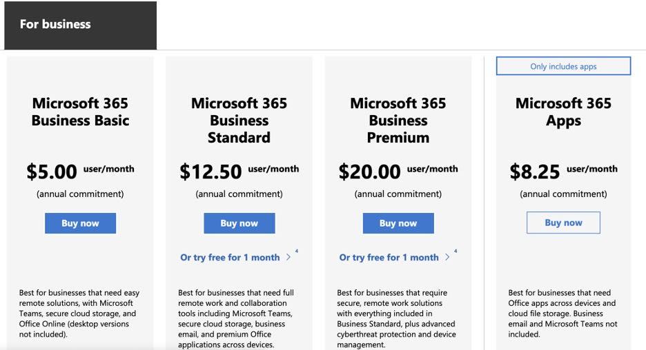 Microsoft Lists pricing