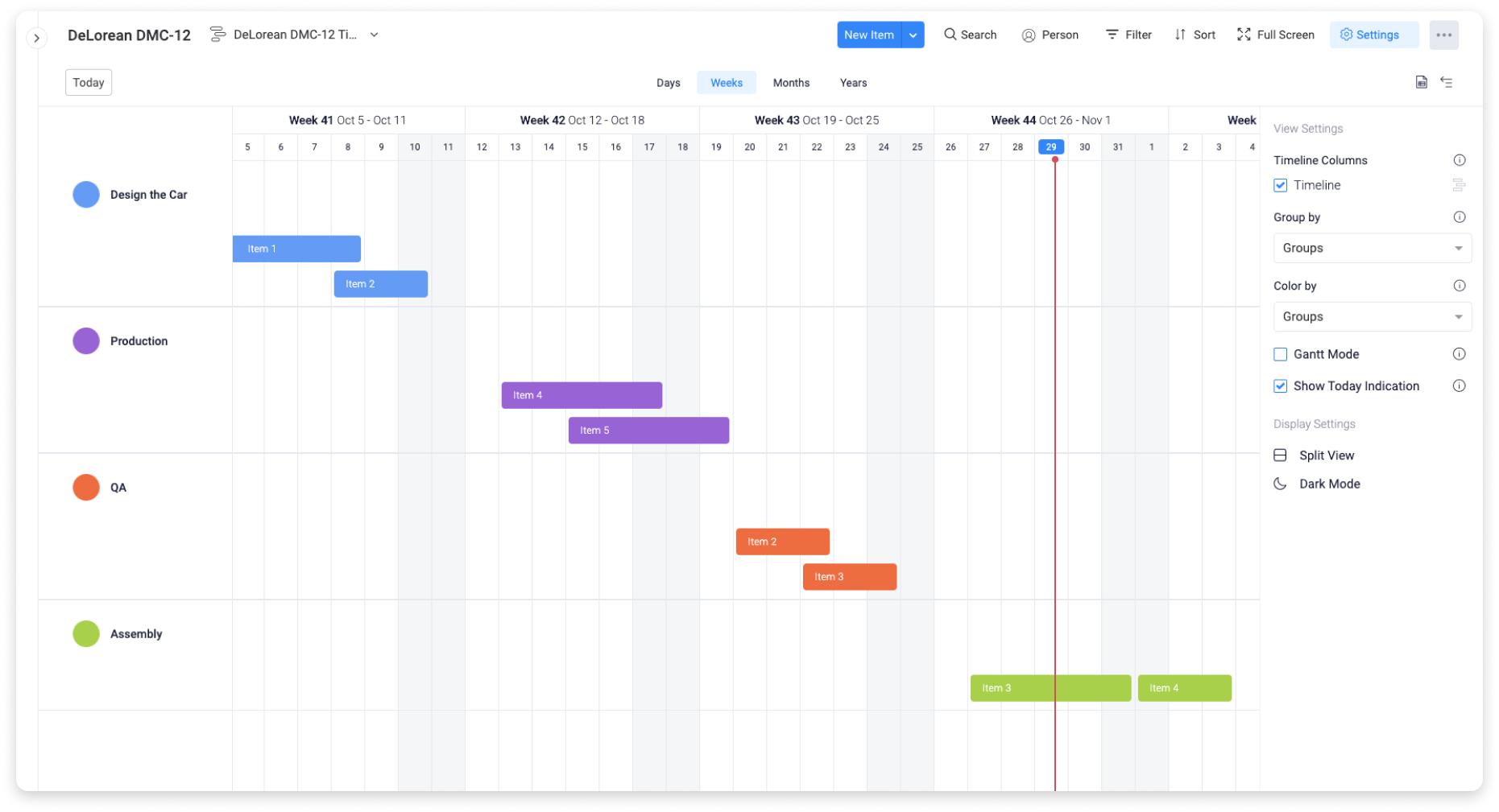 How teams use the Waterfall framework in monday.com