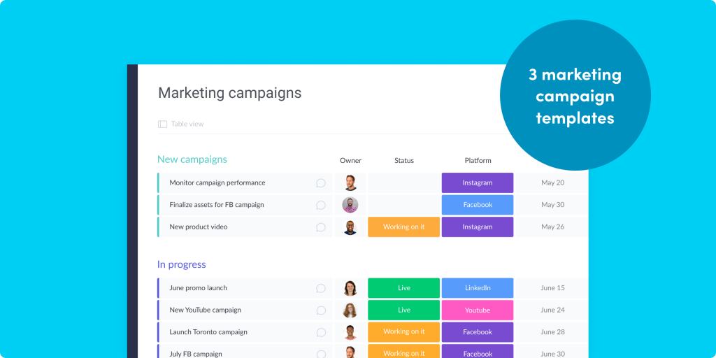 3 marketing campaign templates to keep your team in motion
