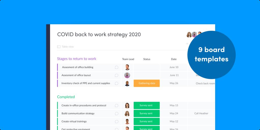 9 modèles pour aider votre équipe à retourner au travail après le COVID-19