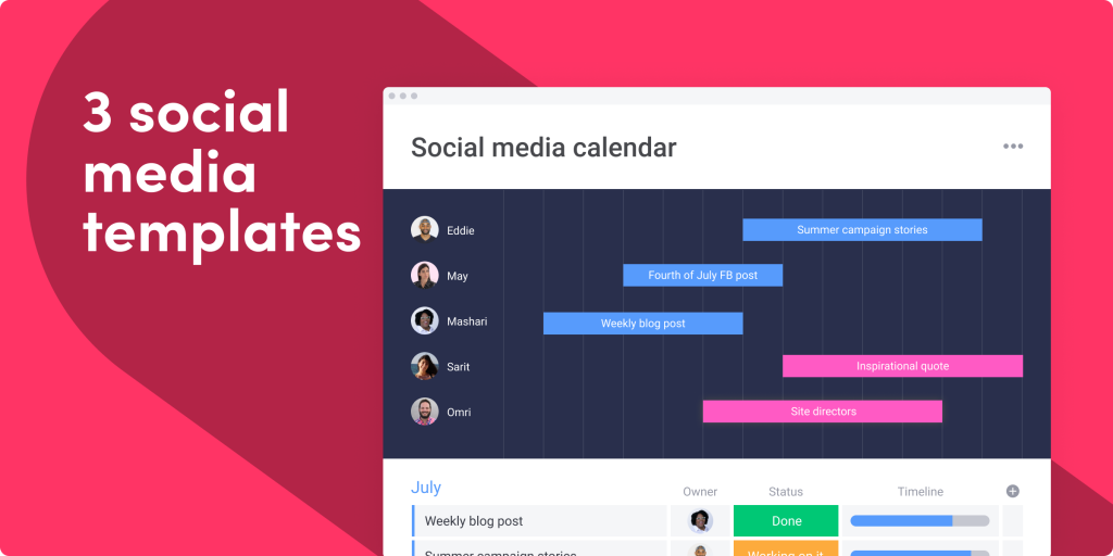 3 social media templates to manage your content and achieve better results