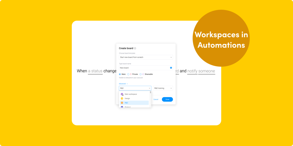Share your monday Apps, automate boards in Workspaces, and more!