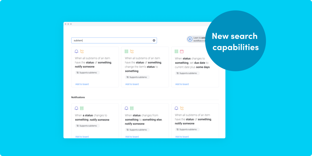 New search capabilities, improved UI, API updates, and more!