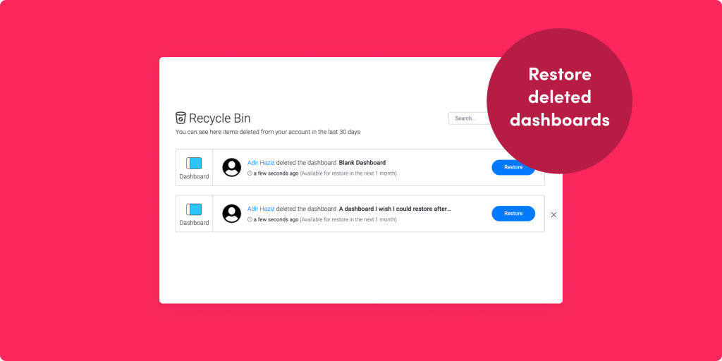 Restore previous dashboards, enhanced dependency columns, and more!