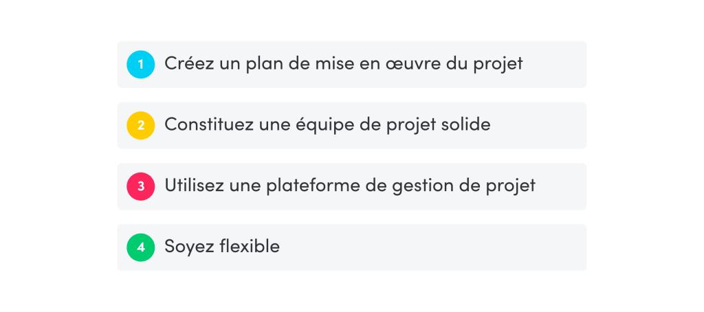 4 conseils pour exécuter un projet