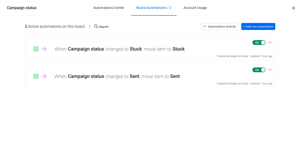 campaign automations