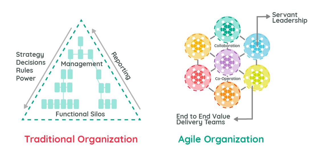 Traditional vs Agile organization