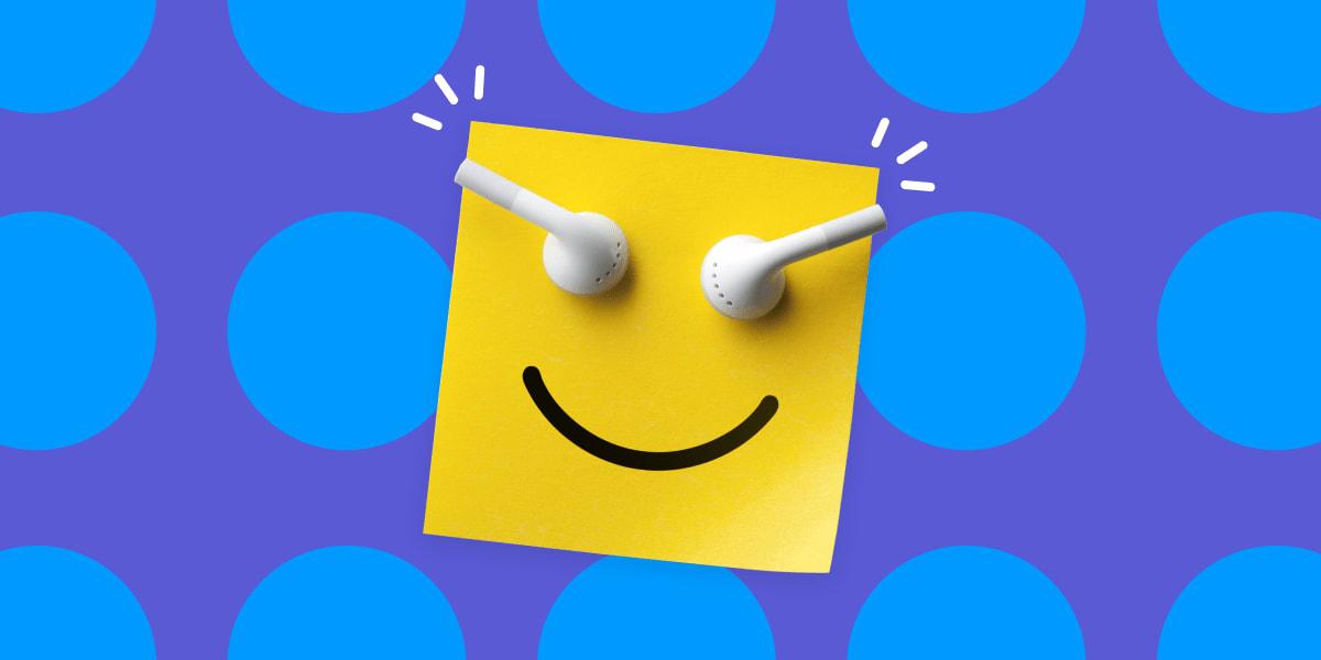 Listening to Upbeat Music at Work-min