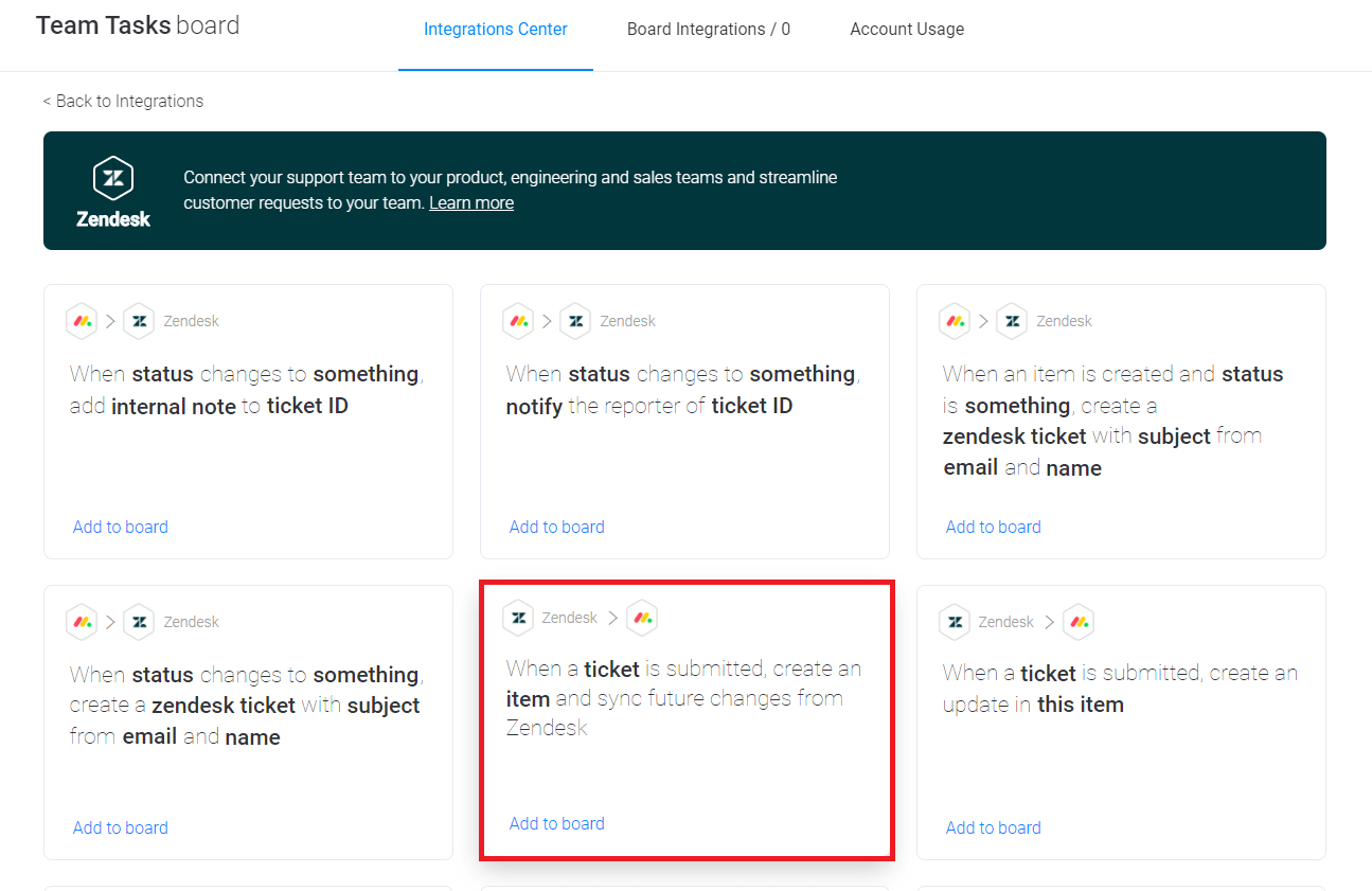 monday.com Zendesk integrations