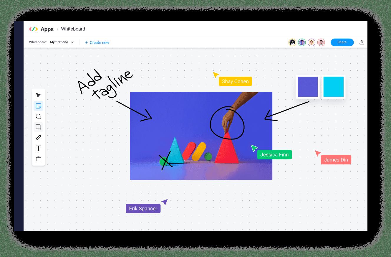 monday.com virtual whiteboard app