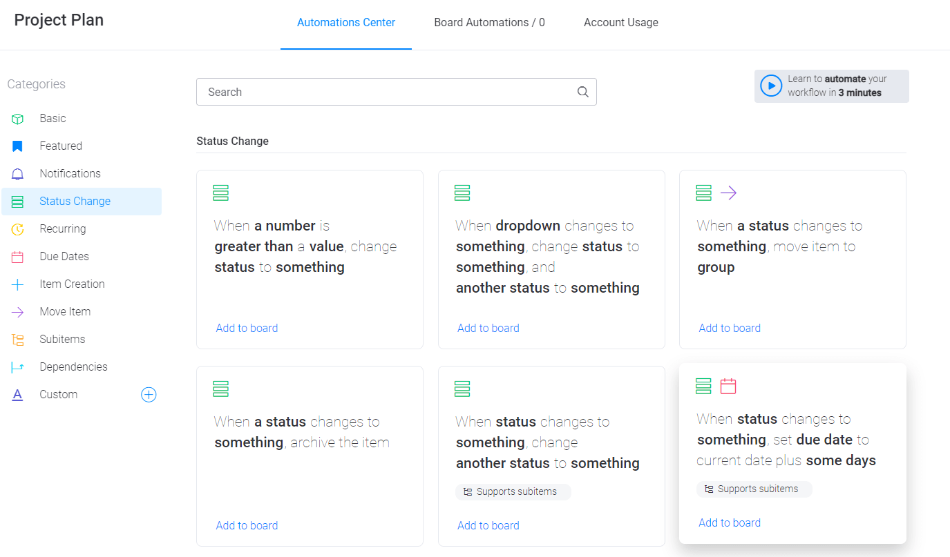monday.com automations