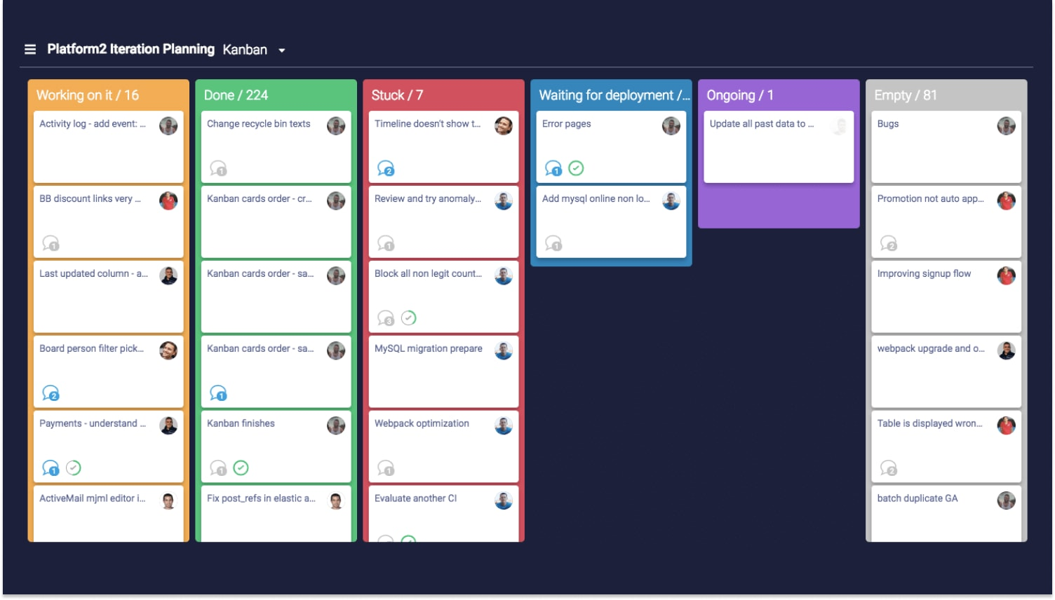 Kanban-style project management from Monday.com