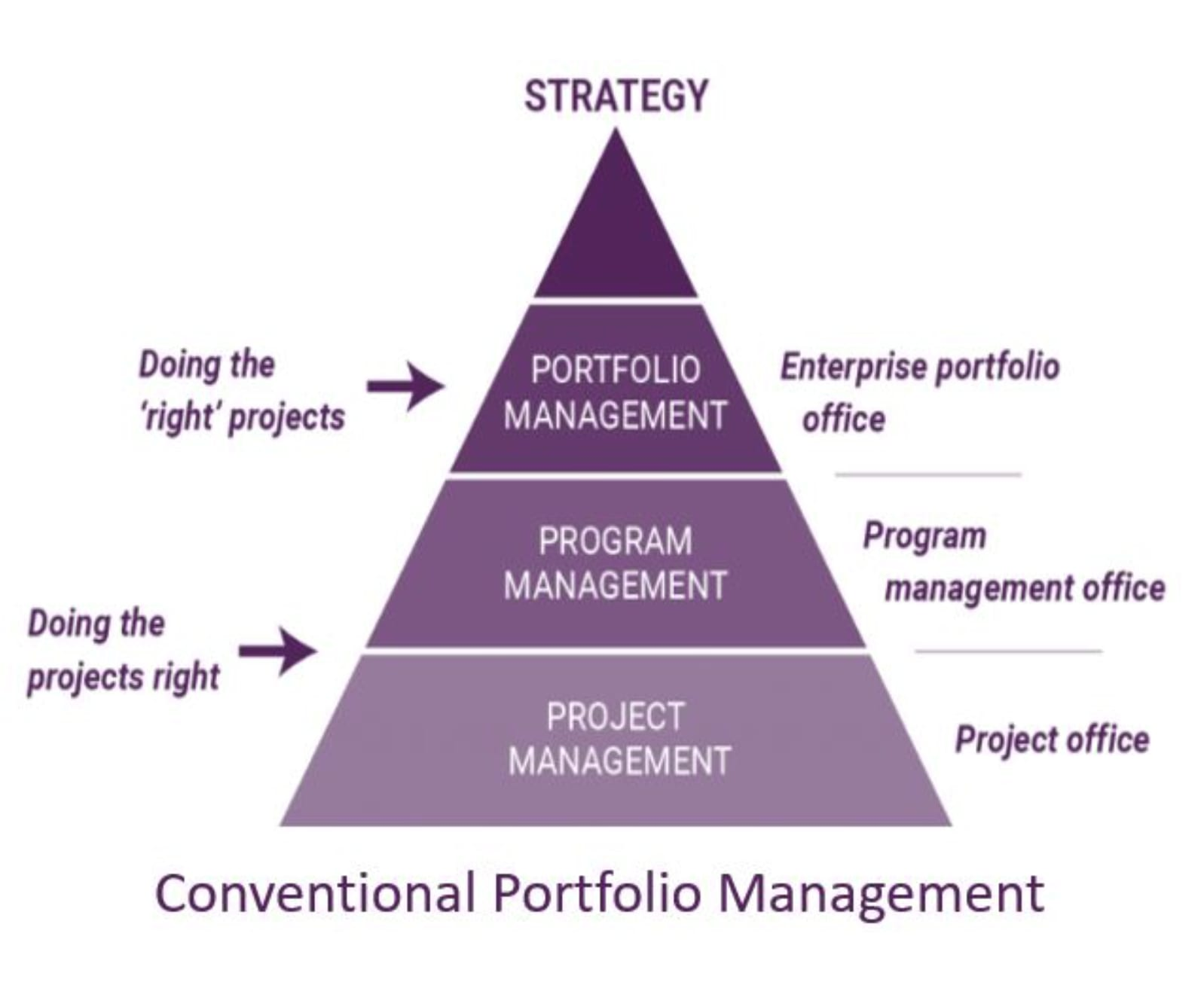 What's the difference between portfolio, program, and project management?