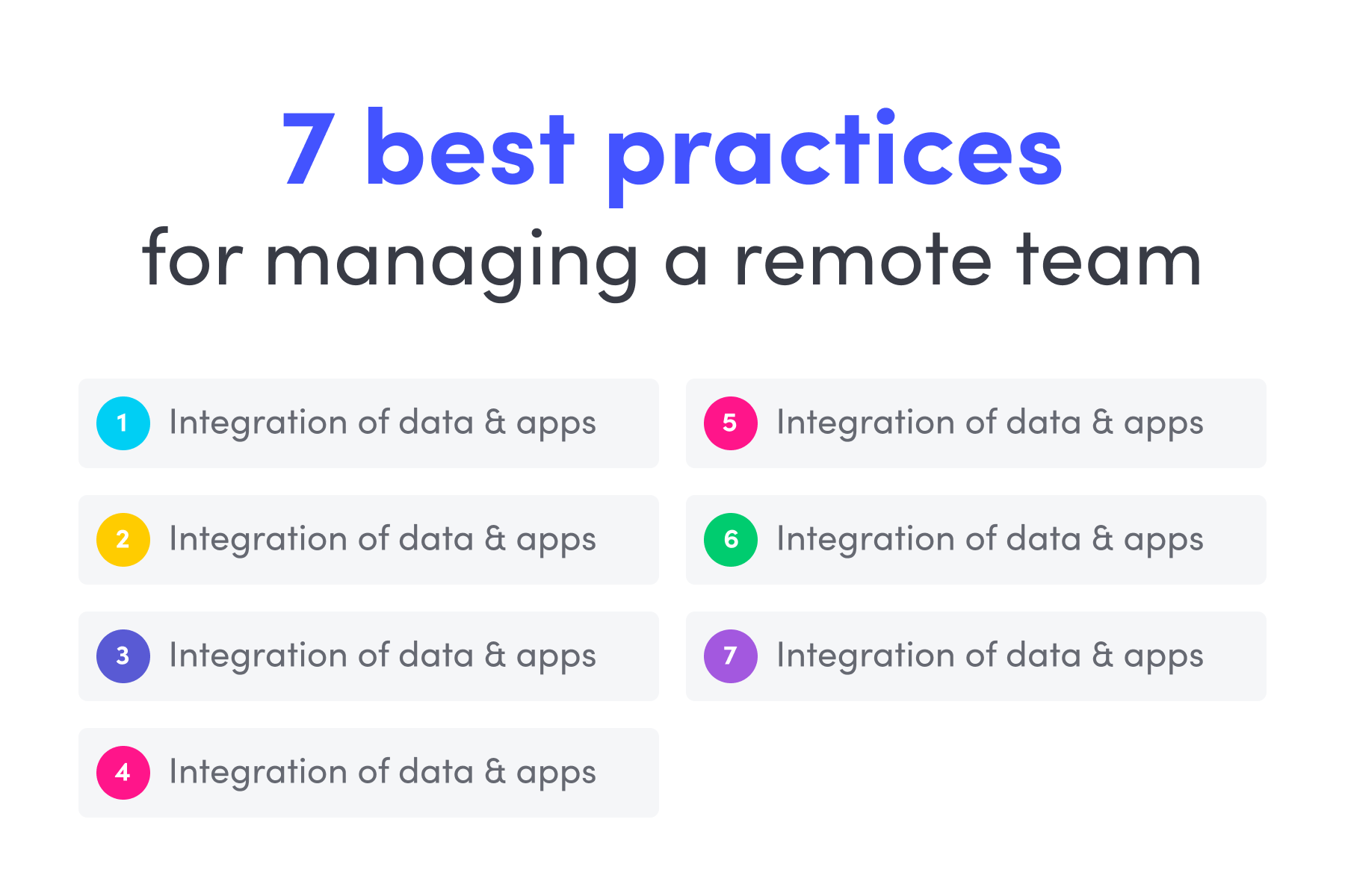 remote teams management - best practices