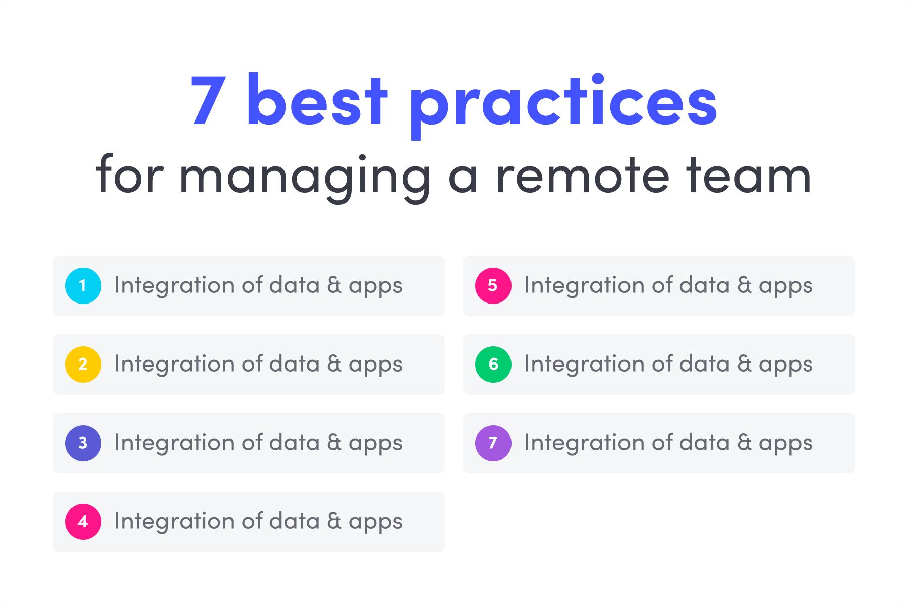 remote teams management - best practices