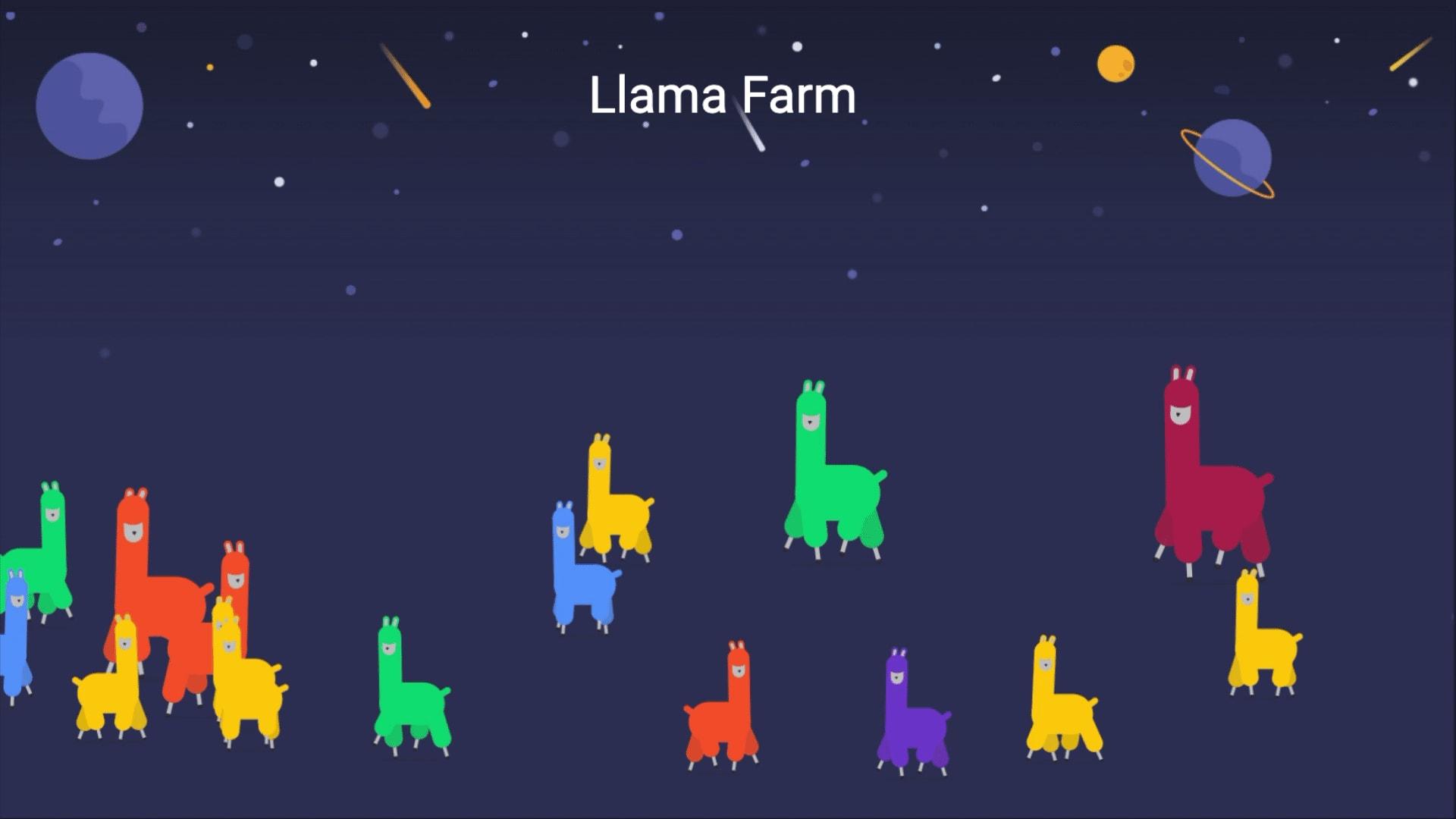 monday.com's llama farm widget