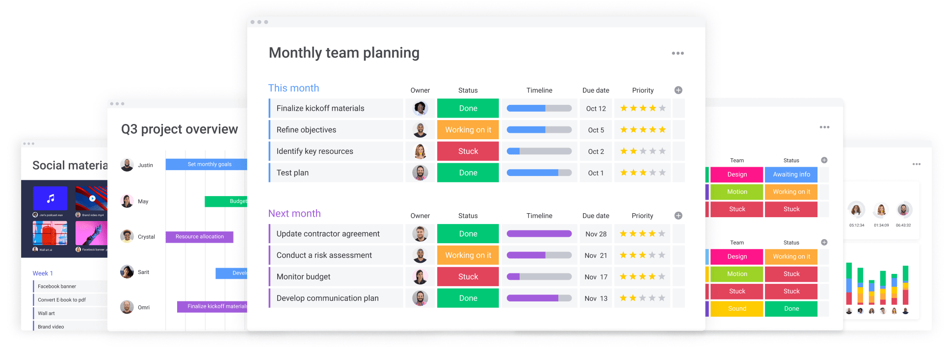 monday.com's platform allows users to host their entire workflow in one location