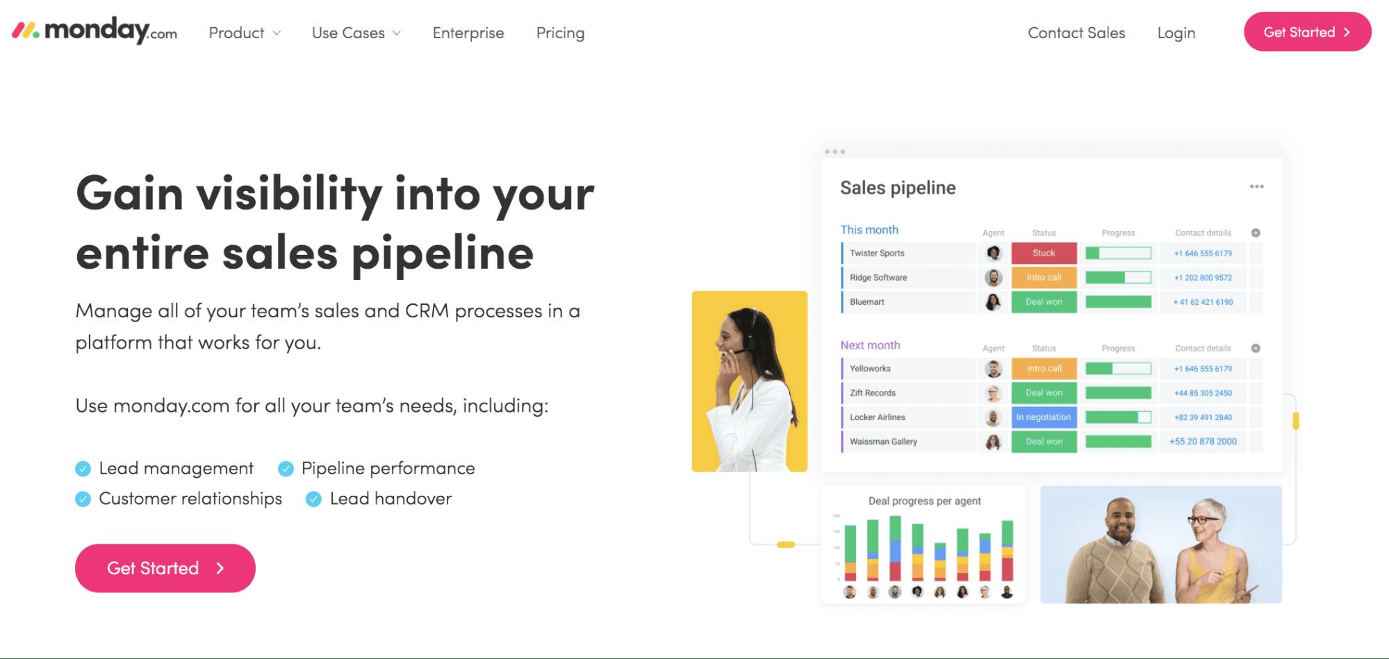 monday.com sales CRM software