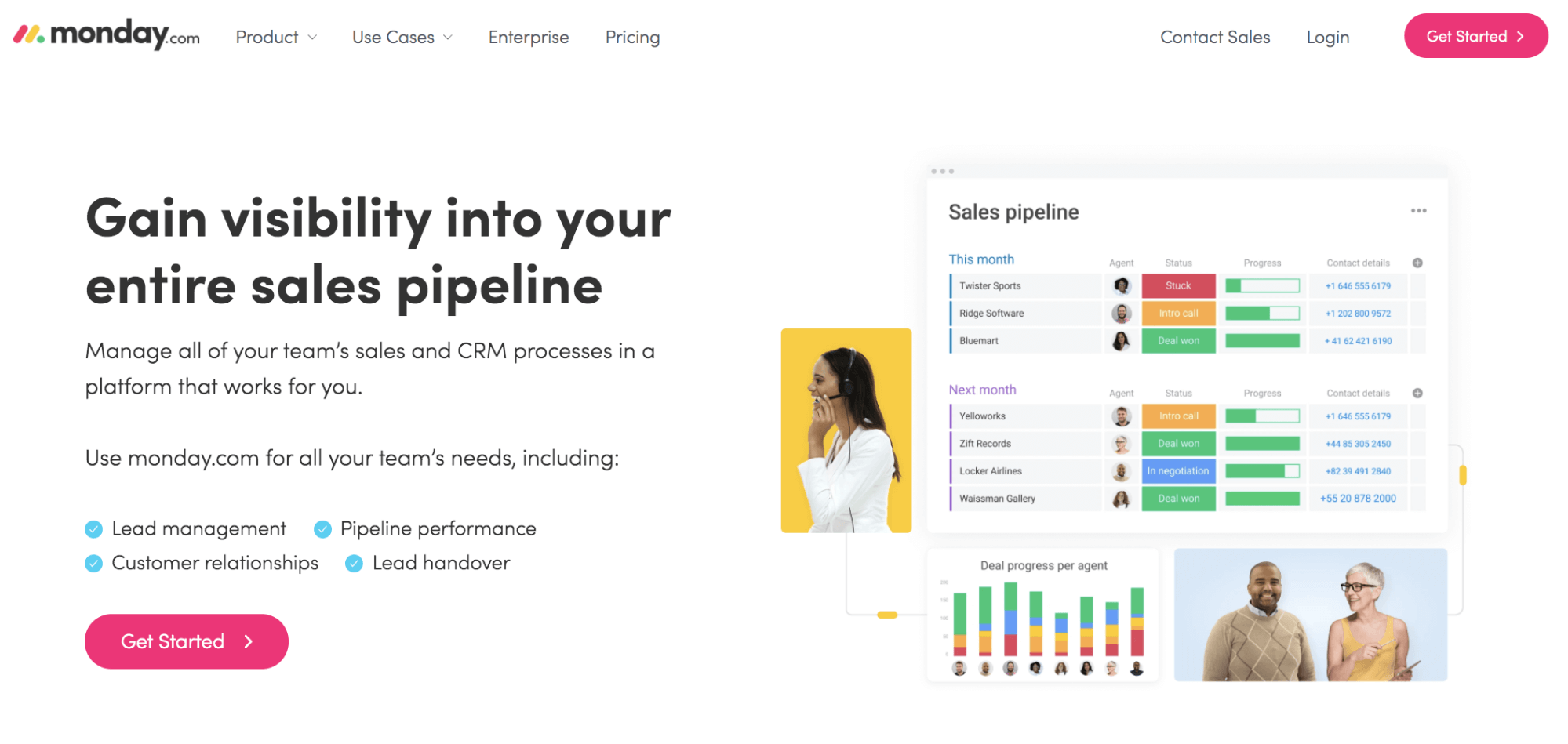 monday.com sales CRM software