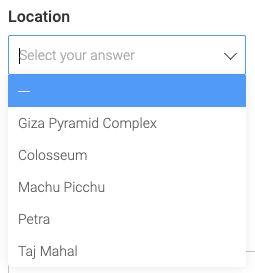 A coluna de localização agora é compatível com formulários!