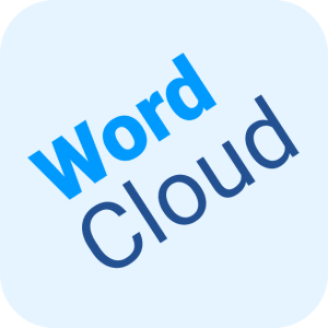 """blue background reading """"word cloud' """