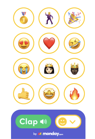 Different emojis and clap sounds for the new extension