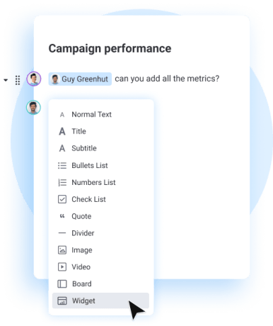campaign performance - workdocs