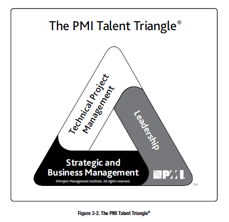 Screenshot from the 6th edition PMBOK guide showing the PMI Talent Triangle.