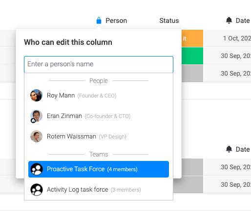 team level permissions example
